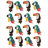 Tropical Birds 3D Stickers