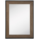 Rustic Rectangle Wood Wall Mirror