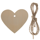 Heart Wood Craft Tags