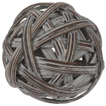 Whitewash Twine Look Decorative Sphere