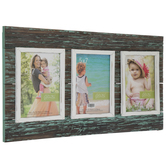 Distressed Blue Collage Wall Frame