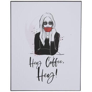 Hey Coffee Hey Wood Wall Decor