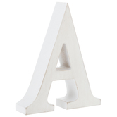 Whitewash Wood Letter