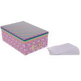 Unicorn Striped Storage Box