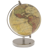 Yellow Globe With Silver Metal Stand