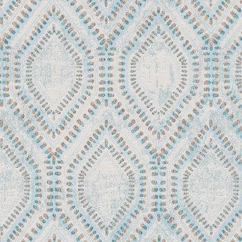 Teal Hexagonal Fabric