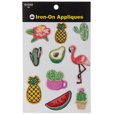 Tropical Iron-On Appliques