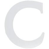 """White Wood Letter C - 3 1/2"""""""