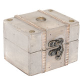 Cream Antiqued Wood Box