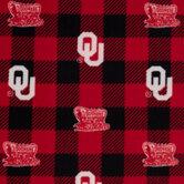 Oklahoma Buffalo Check Allover Fleece Fabric