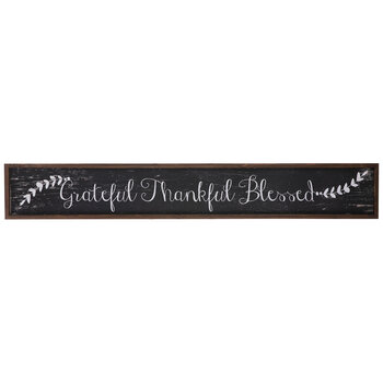 Grateful Thankful Blessed Wood Wall Decor