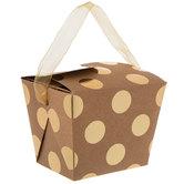 Gold Foil Dots Kraft Take Out Boxes