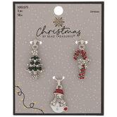 Christmas Rhinestone Charms
