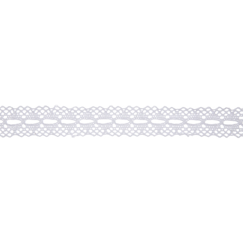 """White Cotton Lace Ribbon - 1"""""""