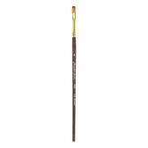 Golden Taklon Flat Shader Paint Brush