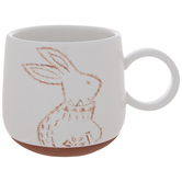 White & Brown Bunny Mug