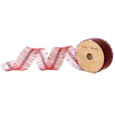 Red Iridescent Fringe Ribbon - 1 1/2""