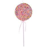 Pink Sprinkled Lollipop Pick