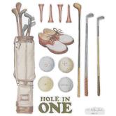 Vintage Golf Stickers