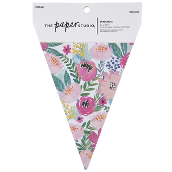 Pink Floral Pennants