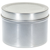 Silver Candle Tins - 6 Ounce