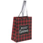 Red & Black Buffalo Check Gift Bag