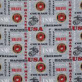 U.S. Marines Cotton Calico Fabric