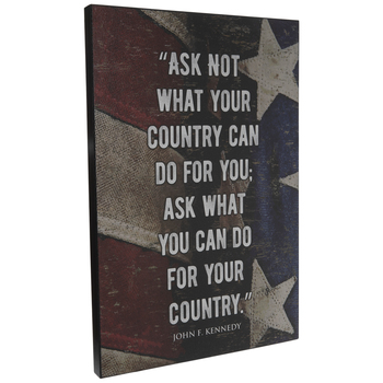 John F. Kennedy Quote Wood Wall Decor
