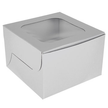White Single Cupcake Boxes