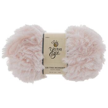 Soft Pink Yarn Bee Fur The Moment Yarn