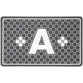 Gray Geometric Tiles Letter Doormat - A