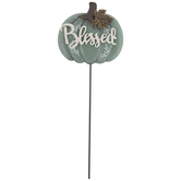 Blessed Pumpkin Metal Pick