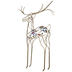 Gold Rhinestone Metal Wire Deer