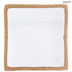 White Canvas With Jute Trim Pillow Cover