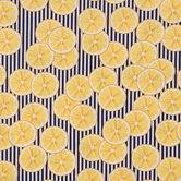 Striped Lemon Cotton Fabric