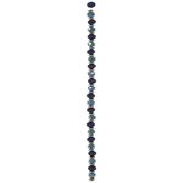 Blue Silicone & Glass Bead Strand