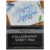 """Calligraphy Sheet Paper Pad - 8 1/2"""" x 11"""""""