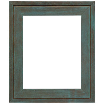 """Turquoise Wash Wood Open Frame - 8"""" x 10"""""""