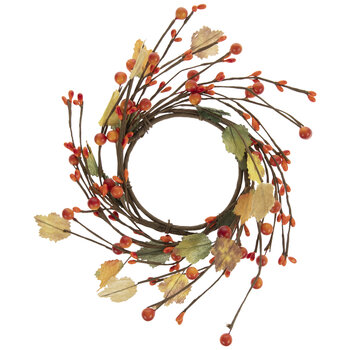 Orange Seed Berry & Leaf Candle Ring