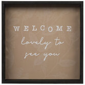 Lovely To See You Wood Wall Decor