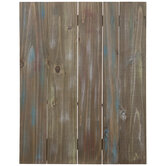 Brown & Turquoise Plank Wood Wall Decor