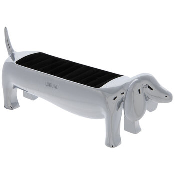 Silver Dachshund Metal Ring Jewelry Holder