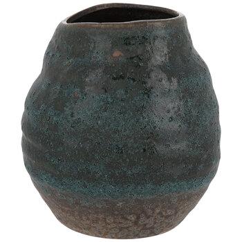 Teal & Brown Textured Vase
