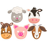 Barnyard Birthday Party Masks