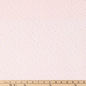 Pink & Multi Polka Dot Apparel Fabric
