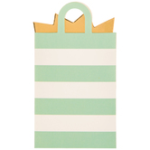 Mint & White Striped Bag Gift Card Holders