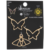 Butterfly & Moth Fillable Metal Charms