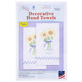 Sunflower Decorative Cross Stitch & Embroidery Hand Towels Kit