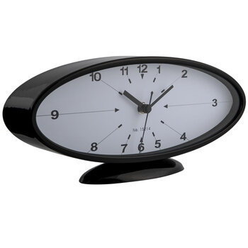 Black Oval Metal Clock