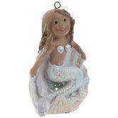 Mermaid In Seashell Ornament